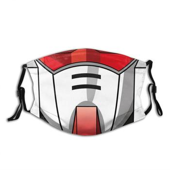 Gundam Rx - 78 Diy Adult Kids Face Mask Anime Manga Rx78 Robot Mecha Face Mask Helmet Red White