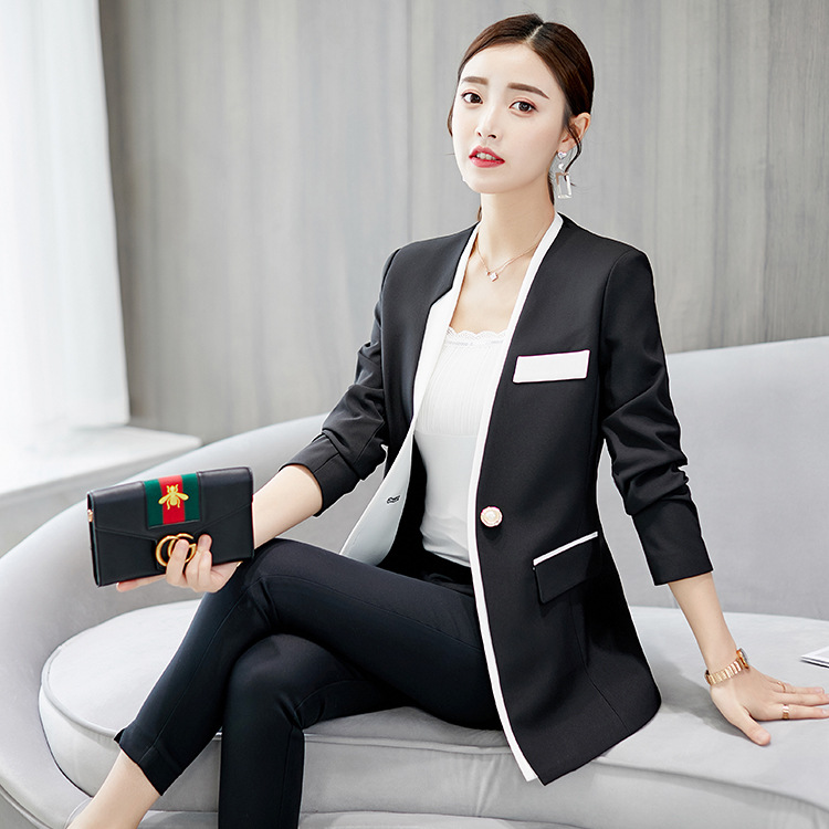 Spring And Autumn 2019 New Ladies Small Suit Korean Temperament Commuter Professional Suit Female One Button Women Blazer S-xl