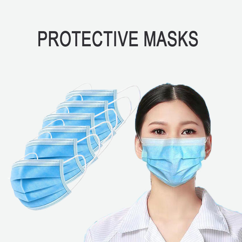 Spot 50 Disposable Three - Layer Civil Dust - Proof, Air - Permeable Adult Respirator Free Of Charge