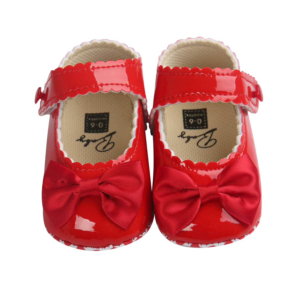 PU Leather Bowknot Toddler Girls Shoes Summer Newborn Baby Girl Shoes Casual Party Kids Footwear Cute Princess Baby Shoes D30