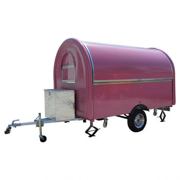 custom blue food truck mobile food trailer Pink Food Truck Mobile Food Trailer