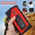 Автомобильная электроника  пусковое устройство  69800 мАч  5 В  2 А  USB  автомобильное зарядное устройство  600А  4 USB слота + 1 ноутбук + 500А  зажим  рел...
