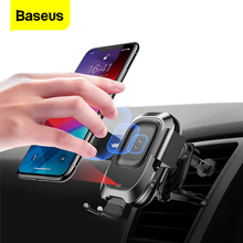 아이폰 XS xr에 대한 Baseus 적외선 무선 차량용 충전기 삼성 S9 빠른 제나라 무선 충전기 공기 환기 마운트 자동차 전화 홀더 스탠드