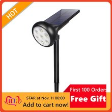 7Led Solar Spotlights Colorful Fixed Color Solar Lawn Light Outdoor Waterproof Spotlight Auto Color-Changing Solar Lamp
