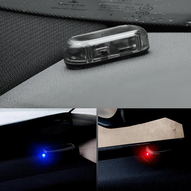 1 шт. Новая Универсальная автомобильная фальшивая сигнализация на солнечной энергии, лампа системы безопасности Предупреждение о краже, ми...