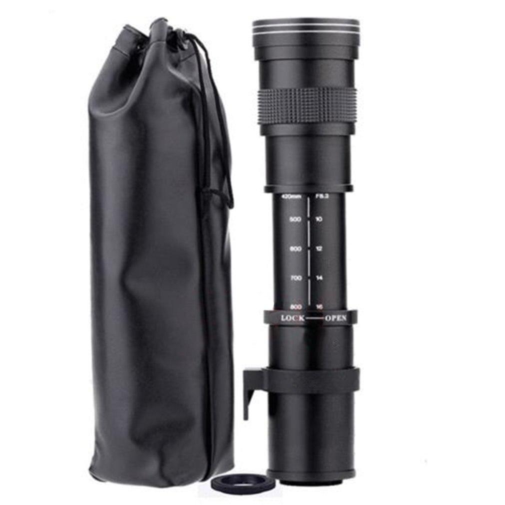 ONLENY 420-800mm F/8.3-16 Super téléobjectif Zoom manuel pour Canon Nikon Sony Pentax appareil photo reflex numérique
