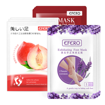 3Pair Exfoliating Foot Mask Foot Patch Peeling Dead Skin Feet Mask for Legs Heels Foot Mask Exfoliating Socks for Pedicure Socks 4 pairs exfoliating foot mask sock pedicure socks exfoliation for feet mask heels foot peeling remove dead skin mask for legs