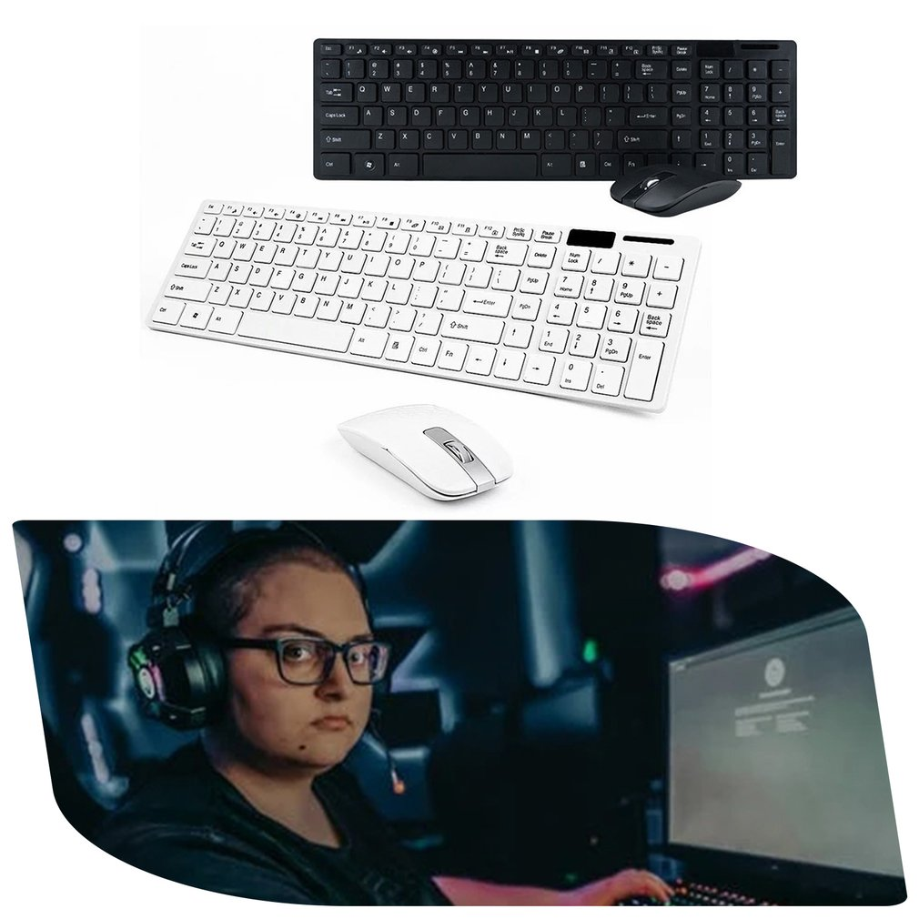 Wireless Keyboard And Mouse Mini Multimedia Keyboard Mouse Combo Set For Notebook Laptop Mac Desktop Office Supplies-1