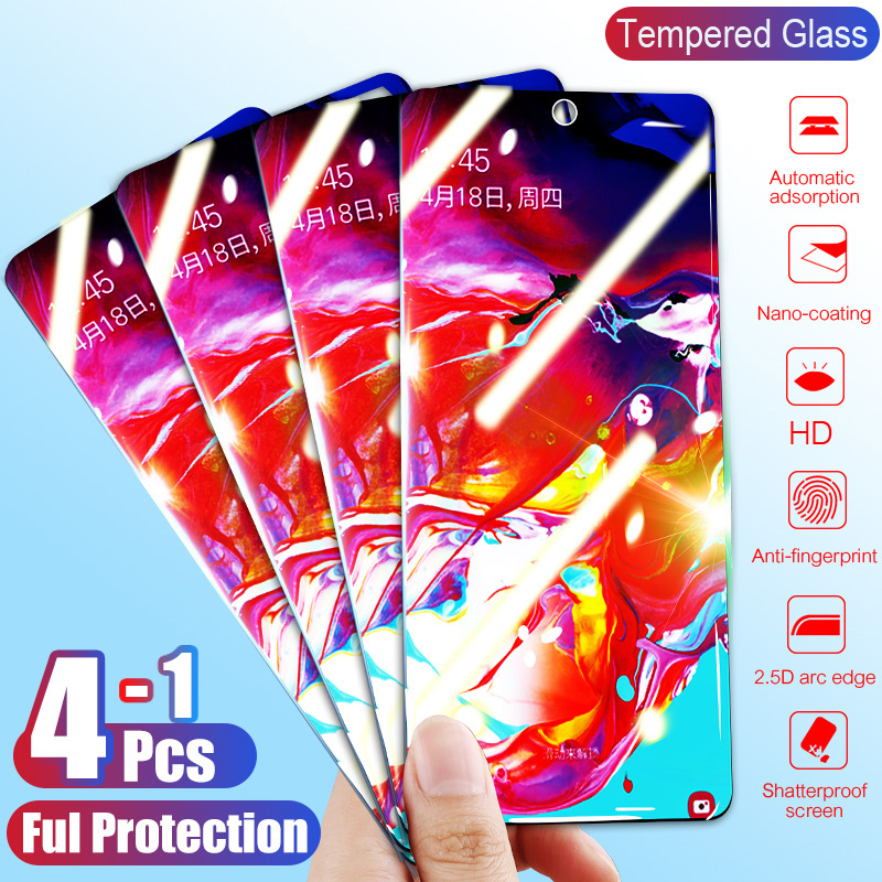 4-1Pcs Tempered Glass For Samsung Galaxy A80 A70 A60 A40 A30 A20 A10 Screen Protector Protective Glass For Samsung A50 M30 M20
