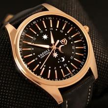 цена на YAZOLE Watch For Men Luxury Casual Waterproof Quartz Watches Classic Business Male Clock Man Luminous Leather Strap Wristwatch