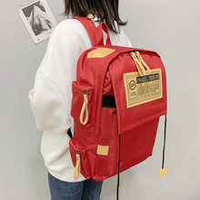 2020 Fashion Street Leisure Male Women School Bags for Teen Boys Girls Satchel Daily Travel Bookbags Junior High Schoolbag cheap NYLON zipper Backpack 0 6kg Polyester 42cm Solid bag school unisex 16cm 26cm