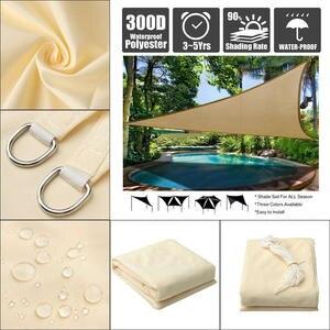 Canopy Awning Shade Sail Sunshade-Protection SUN-SHELTER Garden-Patio-Pool Triangle Waterproof