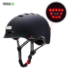 Scooter Helmet Safety-Bike Motorcycle Electric Headlight USB WOSAWE Signal-Warning Rechargeable