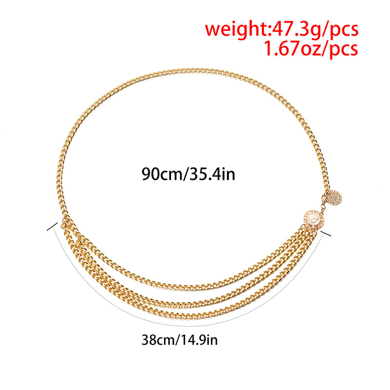 H8cd9fc2328a844758d8eaf13ae2e04388 - BLA Luxury Women Chain Belts Waistbands All-match Waist Gold Silver Multilayer Long Tassel Chain Belts For Party Jewelry Dress 3