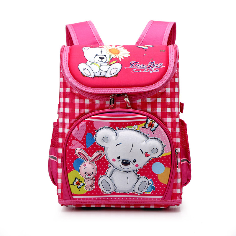 2020 New School Bag For Boys Girls Folded Orthopedic School Backpacks Kids Cartoon Primary Schoolbag Grade1-3 Mochila Infantil