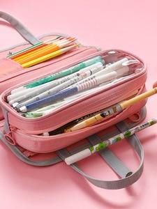 Image 4 - Multi Function Waterproof Large Capacity Pen Bag Pencil Case Schoolgirl High Capacity Stationery Case Originality Girl