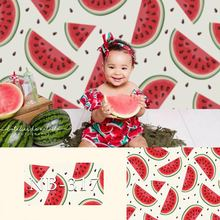 Watermelon backdrop for photography newborn baby shower background for photo booth studio vinyl floor backdrops children kids