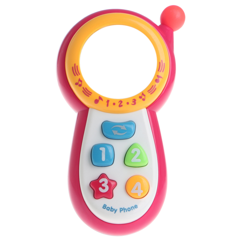 Baby Kids Learning Study Musical Sound Cell Phone Educational Mobile Toy Phone Y4QA image