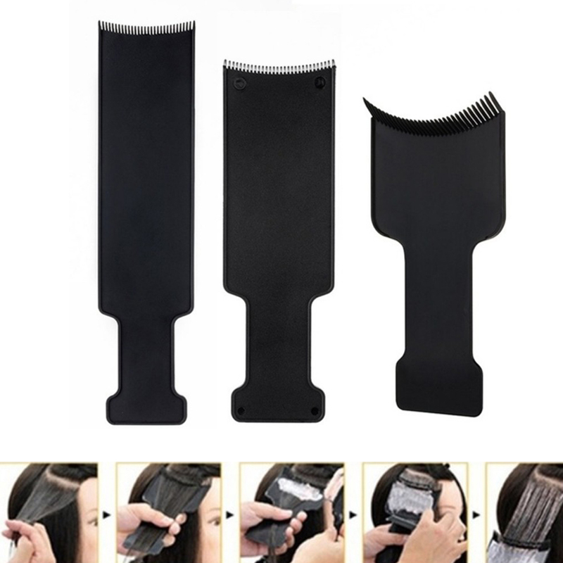 Professional Salon Hairdressing Hair Applicator Brush Dispensing Salon Hair Coloring Dyeing Pick Color Board Hair Styling Tool