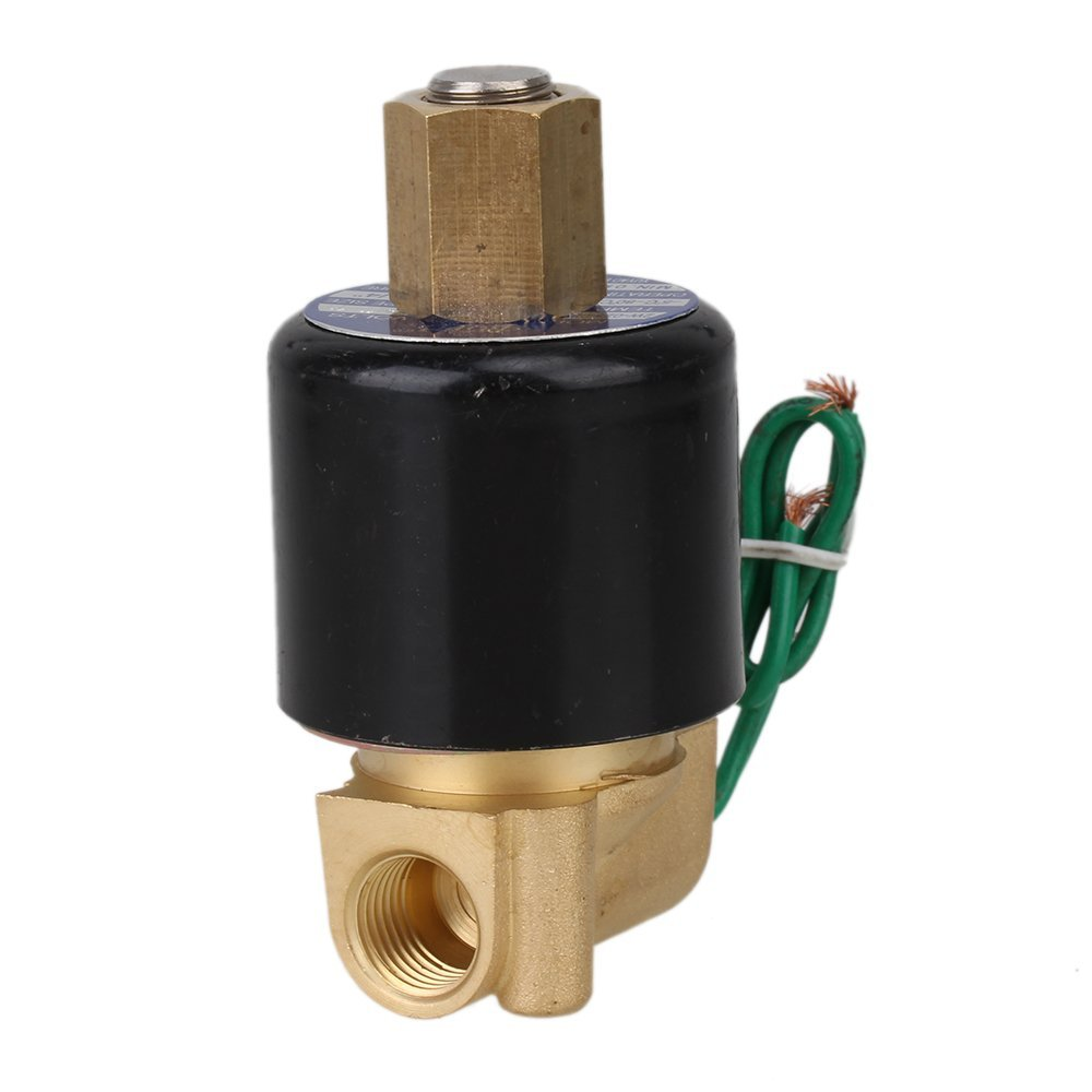 NBR 2 Way 2 Position Solid Coil Electric Solenoid Valve AC 24V 1/4