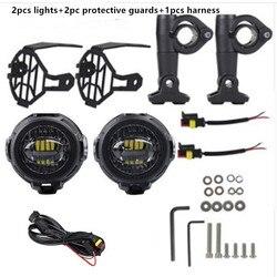 Motocykl led światła przeciwmgielne dla BMW R1200GS/ADV/F800GS/F700GS/F650FS 40W 6000k spot jazdy światła przeciwmgielne