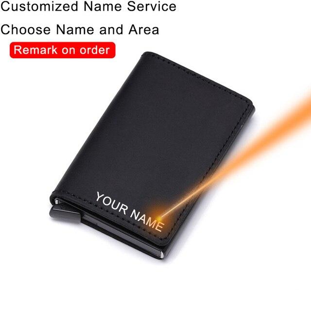 Rfid 암소 정품 가죽 남성 지갑 카드 홀더 사용자 정의 미니 지갑 마술 지갑 돈 가방 남성 얇은 슬림 Trifold 지갑 Walet
