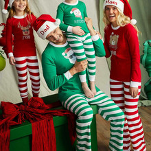 Christmas Family Pajamas Set Matching Clothes Party Adult Kids set Cotton Baby Romper Sleepwear C0565
