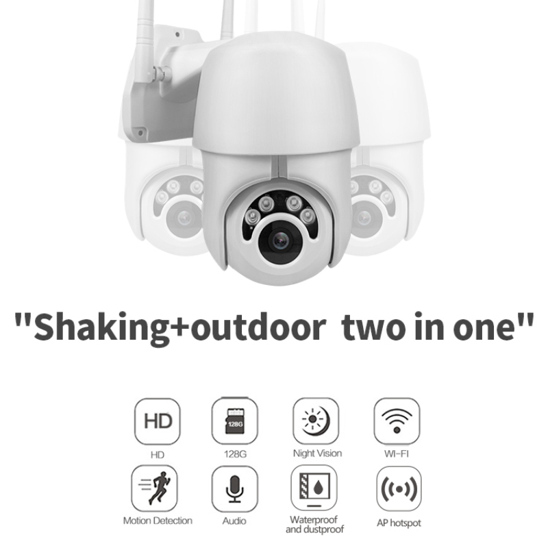 1080P PTZ IP Camera Outdoor Speed Dome Wireless Wifi Security Camera Pan Tilt 4X Zoom IR Network CCTV Surveillance 3.6mm TF Card