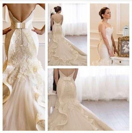 Vestido De Noiva Sereia Lace Mermaid Wedding Dresses 2016 Sweetheart Sleeveless Court Train Robe De Mariage Bride Dress E1121