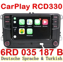 German Russian Turkish Language RCD330 Plus CarPlay Radio For VW Golf 5 Jetta MK5 MK6 CC Tiguan Passat B6 B7 Polo 6RD035187B vw original radio stereo rcd510 camera verion radio for vw golf 5 6 jetta cc tiguan passat polo with code