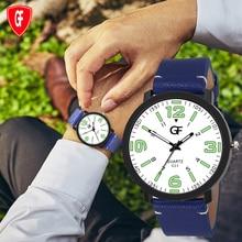 Quartz Men Watches Green number Luminous Business Design Watch Leather Strap Male WristWatch Friend Gift Relogio Masculino metallic strap number quartz rhinestoned watch