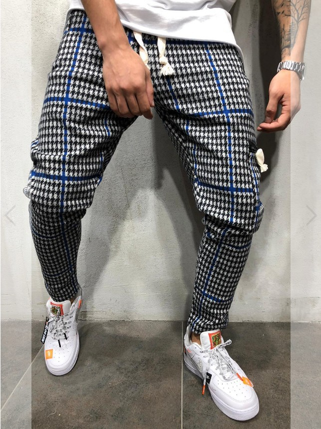 2019 New Style Europe And America Men Slim Fit Cool Casual Sports Stripes Trousers