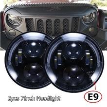 Emarked E9 7 นิ้ว RHD LED ไฟหน้าสำหรับ JEEP Wrangler JK TJ CJ สำหรับ Land Rover Defender ยุโรปกฎข้อบังคับรถไฟหน้า