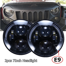 Emarked E9 7 אינץ RHD Led פנס עבור ג יפ רנגלר JK TJ CJ לנד רובר Defender אירופאי אישורים רכב פנסי