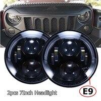 Emarked E9 7Inch RHD Led Headlight for Jeep Wrangler JK TJ CJ for Land Rover Defender European approvals Car Headlights