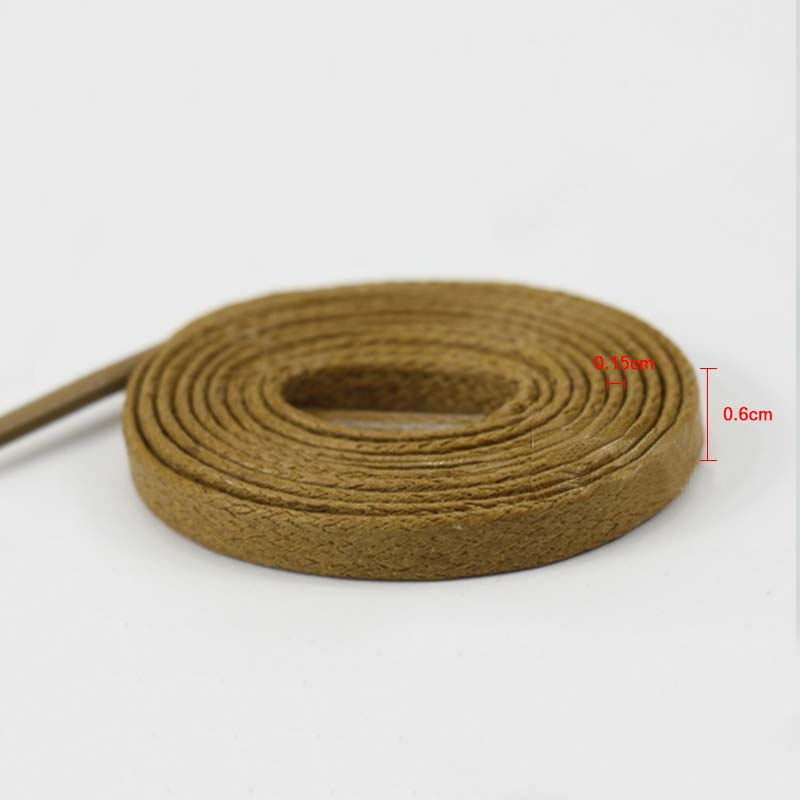 1Pair Waxed Flat Shoelaces Leather Waterproof Casual Shoes Laces Unisex Boots Shoelace Length 60 80 100 120 140 160 180CM in Insoles from Shoes