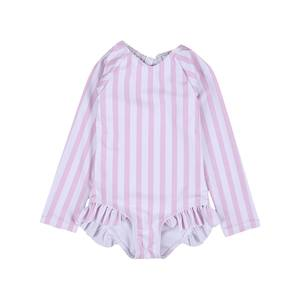 Swimsuit Bathing-Suits Beachwear Sun-Protection Long-Sleeve One-Piece Toddler Baby-Girls