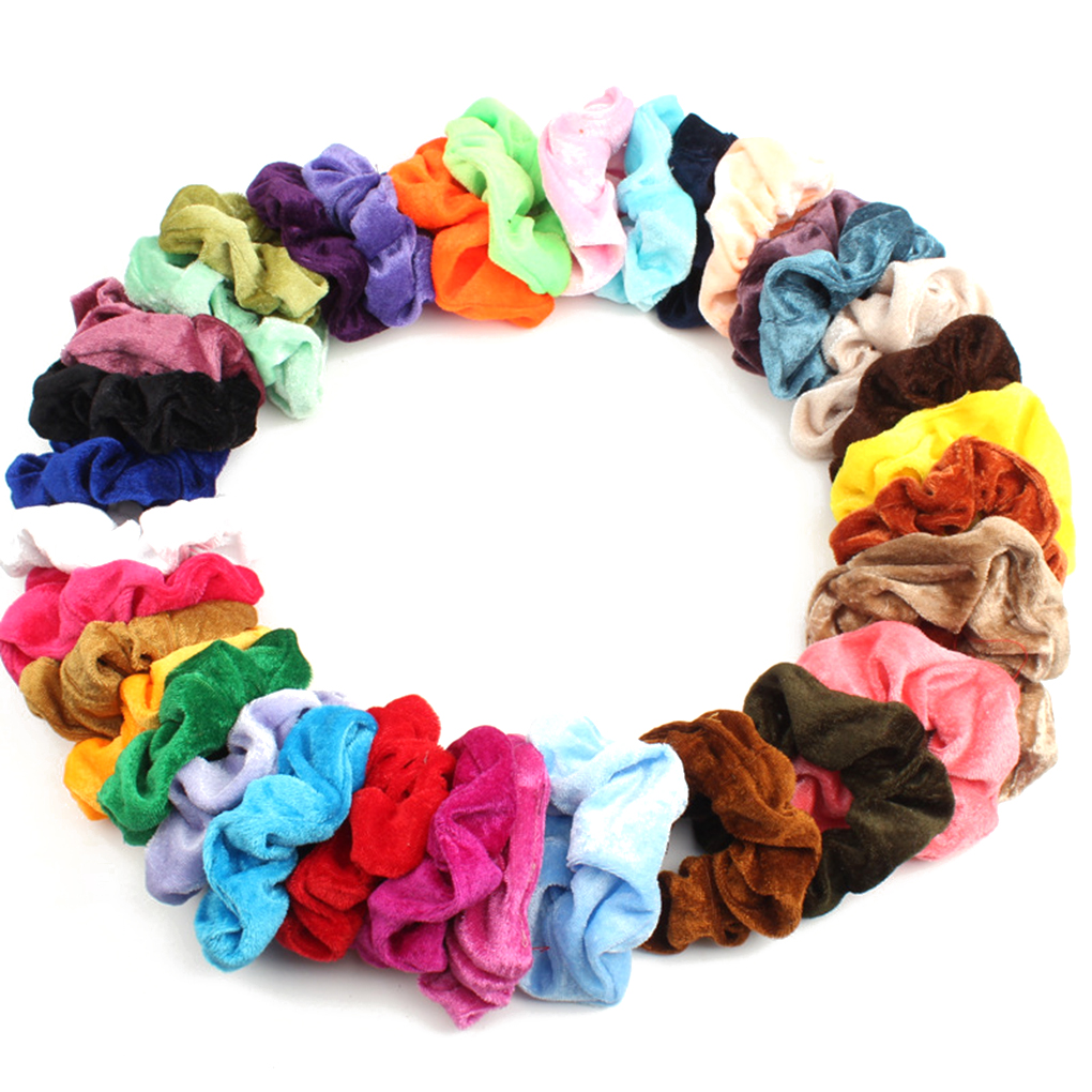 36 Colors New Velvet Scrunchie Women Girls Elastic Hair Rubber Bands Accessories For Women Tie Hair Ring Rope Ponytail Headdress