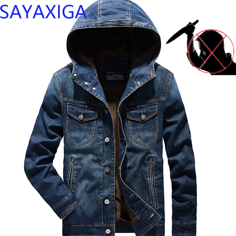 New design stealth self defense anti cut denim hooded jacket stab resistant knife thorn proof civil using security casual outfit