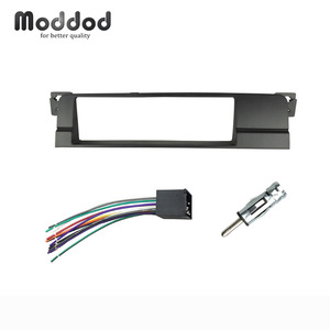 Image 1 - One Din Fascias For BMW 3 Series E46 1998 2005 CD DVD Stereo Radio Panel Dash Trim Kit Frame Bezel with Harness Antenna Adapter