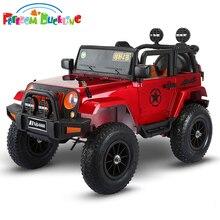 Четырехколесный привод для детей, электрическая, для автомобилей, Детский электромобиль на 1-5 лет, игрушечный внедорожник с 4 пневматическими колесами