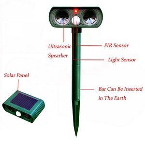 Image 3 - 2PCS Solar Repellent Cat Repeller Scarer Dual Ultra Deterrent Garden Animal Chaser