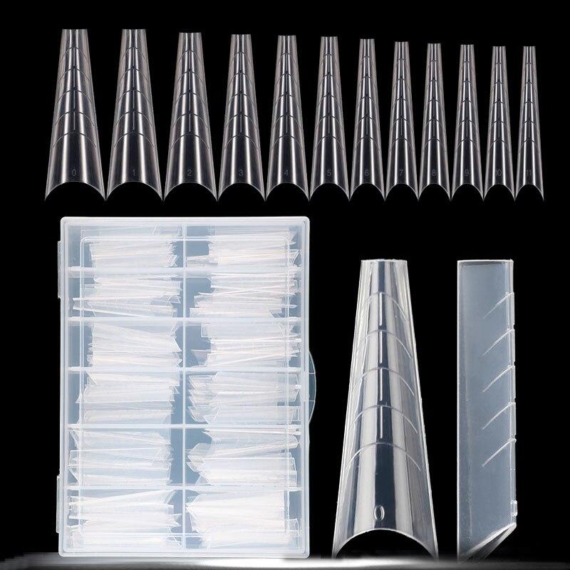 Двойной формы для наращивания ногтей, полного покрытия, накладные ногти из акрила для быстрого здания форма Типсы расширение искусство УФ Г...