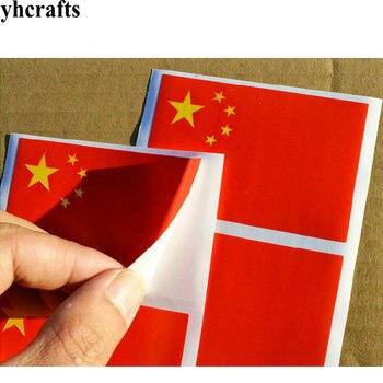 50~100PCS/LOT,5x8cm Chinese national flag stickers Five-Starred Red flag adhesive stickers National day Love China flagpromotion united arab emirates national flag 90 150cm 60 90cm 15 21cm for national day