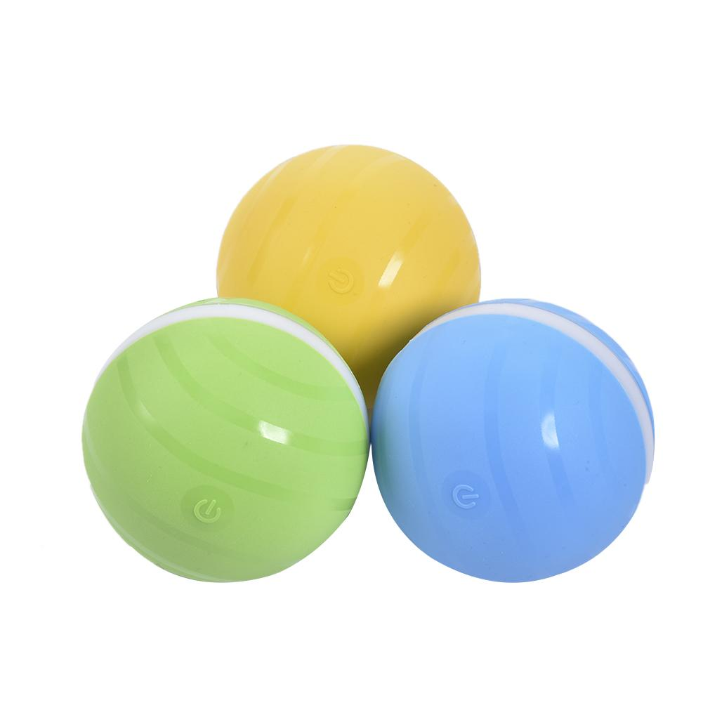 Pet Toy Jumping Ball Waterproof Kid Magic Roller Jump USB Electric LED Rolling Flash Fun For Cat Dog Kids