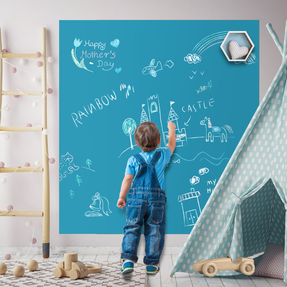 Drawing Toys Children Erasable Kids Writing Painting Home School Wall Decor Board Black Chalkboard Educational Toys Xmas Gift