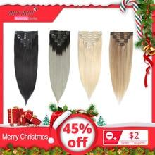 MRS HAIR, Омбре, человеческие волосы для наращивания на заколках, волосы для наращивания, блонд, натуральные волосы remy на заколках, прямые волосы на заколках