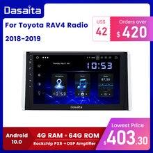 """داسايتا 10.2 """"IPS شاشة سيارة الوسائط المتعددة أندرويد 10.0 لتويوتا RAV4 راديو 2018 2019 TDA7850 نظام تحديد المواقع بلوتوث سيارة ستيريو MAX10"""