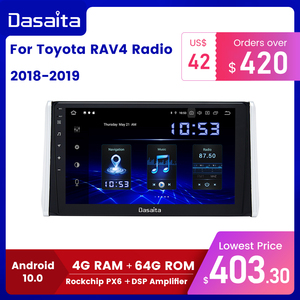 "Image 1 - Dasaita 10.2"" IPS screen Car Multimedia Android 10.0 for Toyota RAV4 Radio 2018 2019 TDA7850 GPS Bluetooth Car Stereo MAX10"