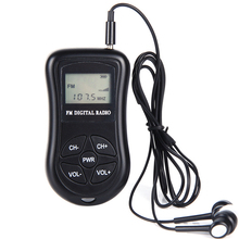 LCD Display Personal Mini Digital FM Radio with Earphone Lanyard Portable Digital FM Radio continuous be used for 50   60 hours